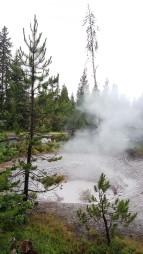 Un geyser à côté du parking
